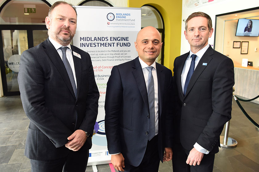 Sajid Javid, Patrick Magee and Nick Pulley