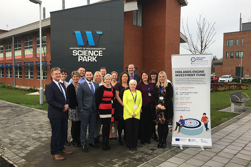 Million pound lending milestone for BCRS celebrated at University of Wolverhampton Science Park