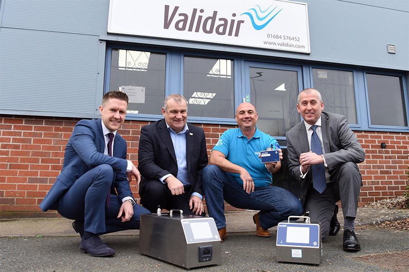 validair crouching businessmen image