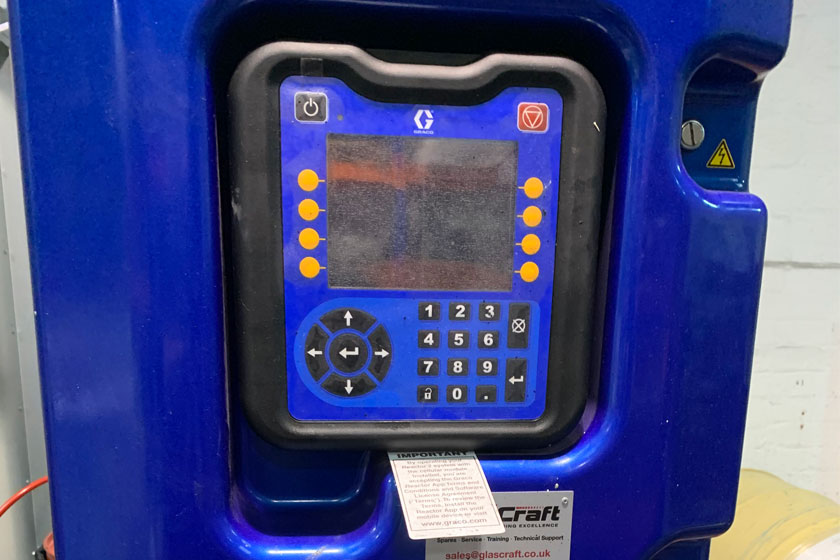 New Spray PU Machine shown