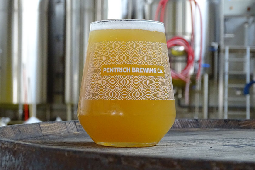 pint of beer from Pentrich Brewery